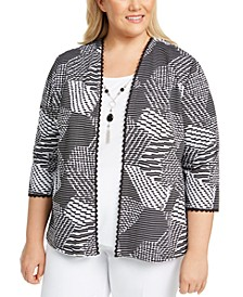 Plus Size Riverside Drive Layered-Look Necklace Top