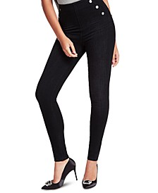 Ultra Curve Button-Detail Skinny Jeans