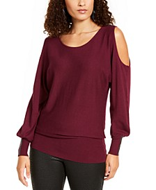 Cold-Shoulder Dolman-Sleeve Top, Created For Macy's