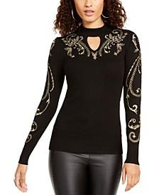 Metallic Mockneck Sweater, Created For Macy's