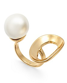 Gold-Tone Imitation Freshwater Pearl Open Ring, Created For Macy's
