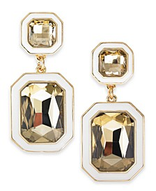 Gold-Tone Crystal Double Drop Earrings, Created For Macy's