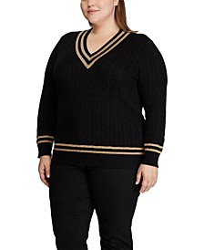 Plus Size Metallic Cricket Sweater