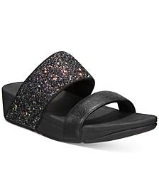 Rosa Glitter Slide Sandals