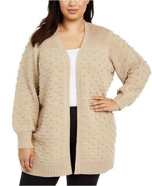 Calvin Klein Plus Size Popcorn Cardigan Sweater