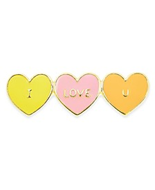 Gold-Tone & Enamel I LOVE YOU Pin, Created For Macy's