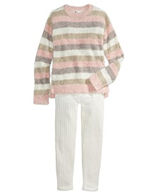 Big Girls Striped Chenille Sweater & Sweater Leggings, Created For Macy's
