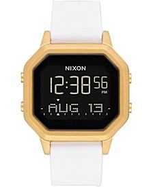 Digital Siren White Silicone Strap Watch 36mm