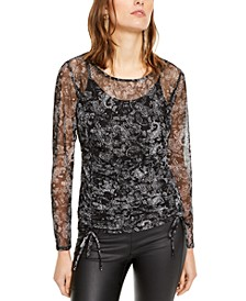 INC Ruched Tie-Hem Top, Created For Macy's