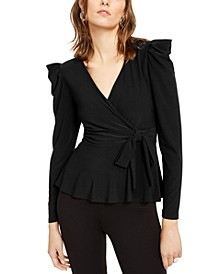 INC Surplice Side-Tie Top, Created for Macy's