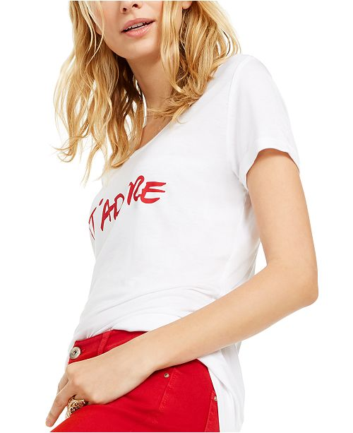 INC International Concepts INC J'Adore Graphic-Print T-Shirt, Created For Macy's