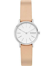 Women's Signatur Pink Leather Strap Watch 30mm