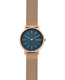 Women's Signatur Rose Gold-Tone Stainless Steel Mesh Bracelet Watch 30mm