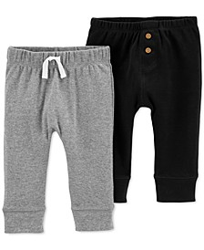 Baby Boys 2-Pk. Cotton Pull-On Pants