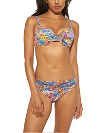 Printed Bikini Top & Ruched Bottoms