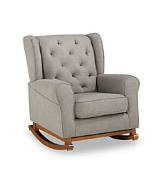 Paola Tufted Wingback Rocker