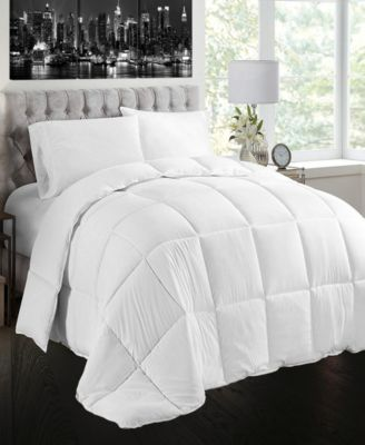White Goose Feather and Down Cotton Case Comforter, Queen Size