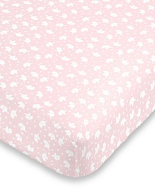 Elephant Print Crib Sheet