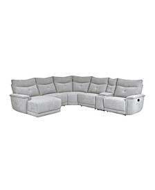 Talbot 6pc Sectional Sofa w/ Recliner & Chaise