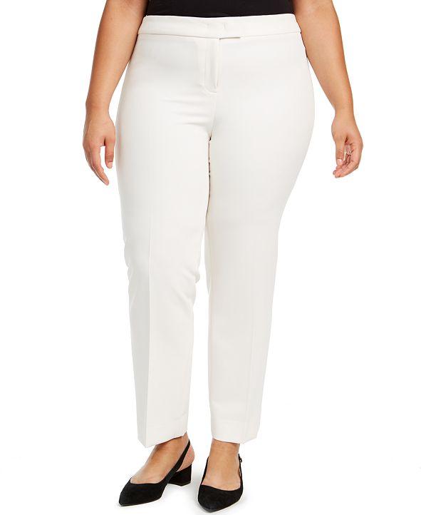 Anne Klein Plus Size Straight-Leg Pants