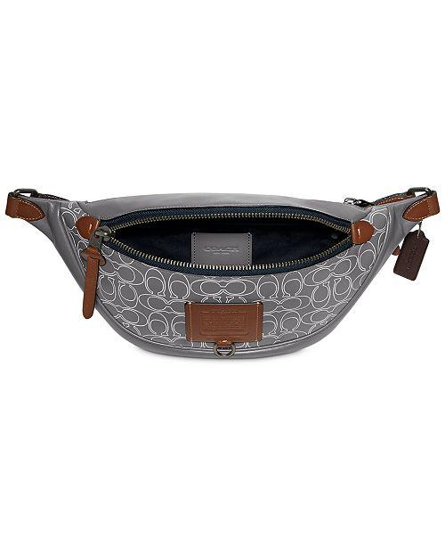 COACH Men's Rivington Signature Belt Bag