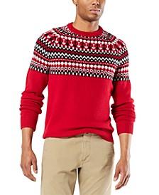 Men's Alpha Chunky Fair Isle Sweater, Created for Macy's