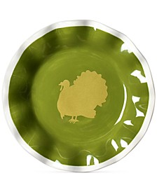 by Laura Johnson Turkey Ruffle Salad Plate