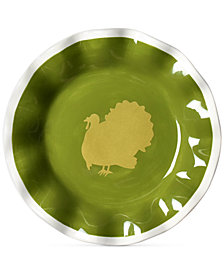 Coton Colors by Laura Johnson Turkey Ruffle Salad Plate