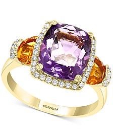EFFY® Multi-Gemstone (4-1/5 ct. t.w.) & Diamond (1/5 ct. t.w.) Ring in 14k Gold