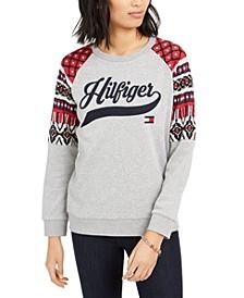 Printed Raglan Sweatshirt