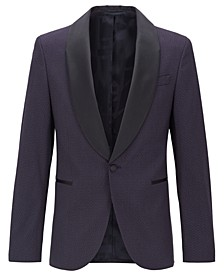 BOSS Men's Slim-Fit Patterned Blazer