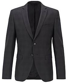 BOSS Men's Reymond Extra-Slim-Fit Checked Jacket