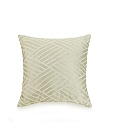 Embroidered Geo 18 Square Decorative Pillow
