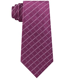 Men's Classic Textured Grid Silk Tie