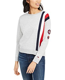Logo-Stripe Sweatshirt