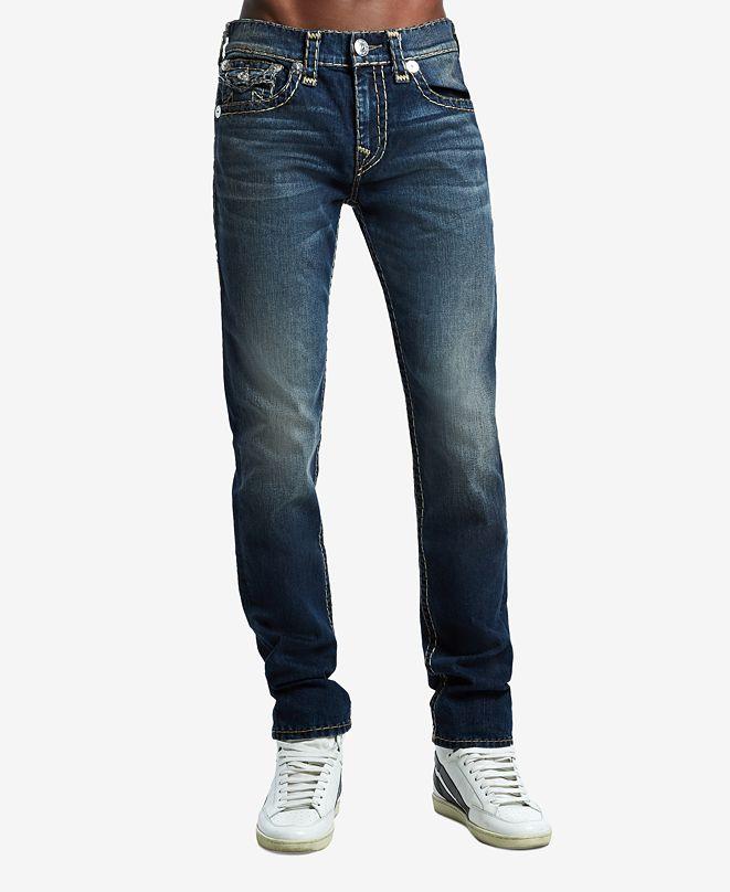 True Religion Men's Rocco Skinny Flap Super T Jeans