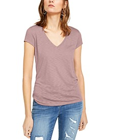 INC Textured V-Neck Top, Created For Macy's