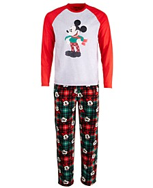 Men's 2-Pc. Mickey Mouse Pajama Set
