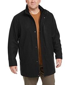 Men's Big & Tall Long Open Bottom Car Coat