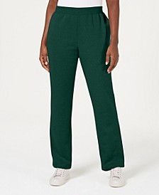 Petite Classic Fleece Elastic Waist Pants, Created for Macy's
