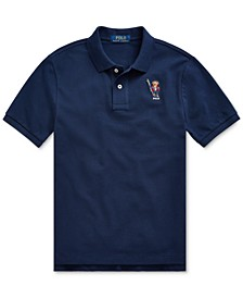 Big Boys Ski Bear Cotton Mesh Polo, Created For Macy's