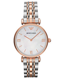 Emporio Armani Women's Two-Tone Stainless Steel Bracelet Watch 32mm AR1683