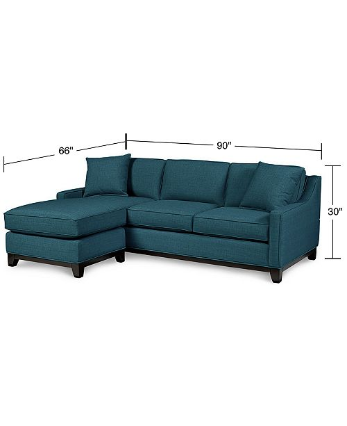 Fabric Reversible Chaise Sectional