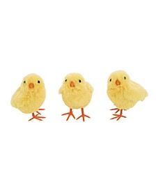 Yellow Easter Plush Baby Chick - Set of 3
