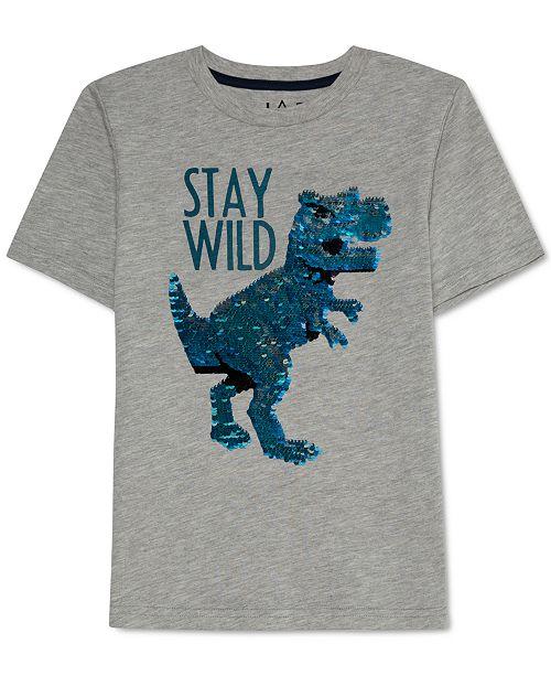 Jem Toddler Boys Flip Dino Sequin T-Shirt