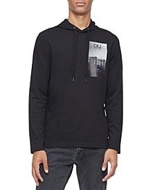 Men's Cityscape Logo Graphic Hooded T-Shirt