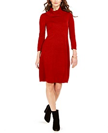 Cowlneck Sweater Dress