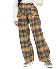 Birch Plaid Wide-Leg Pants