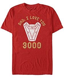 Men's Avengers Endgame Dad I Love You 3000, Short Sleeve T-shirt