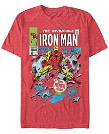 Men's Iron Man Invincible Premier Issue Comic Book Cover, Short Sleeve T-shirt